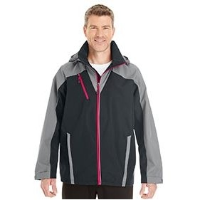 NORTH END Men's Embark Interactive Colorblock Shell with Reflective Printed Panels