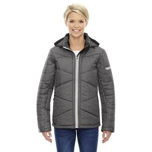 NORTH END SPORT BLUE Ladies' Avant Tech Mélange Insulated Jacket with Heat Reflect Technology